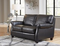 Carlisle Leather Loveseat In Black