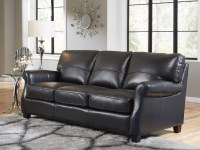 Carlisle Leather Sofa In Black