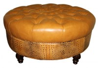 Trista Leather Cocktail Ottoman