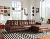 Essex Leather Sofa With Chaise