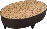 Main Street Leather/Fabric Ottoman