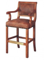 Beckel Leather Bar Stool