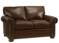 Savannah Leather Loveseat