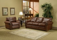 Savannah Leather Sofa Group