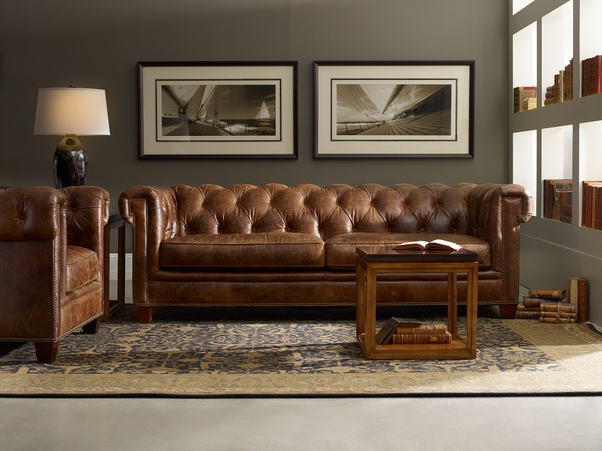 In Stock Leather Furniture Kimberly Leather Sofa