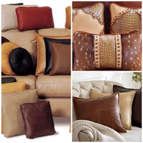 Custom Leather Throw Pillows