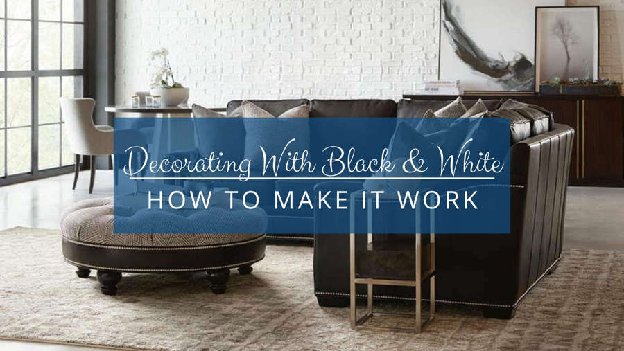 Decorating with Black and White Leather Furniture