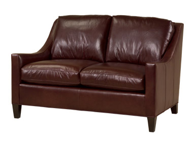 Zack Leather Loveseat