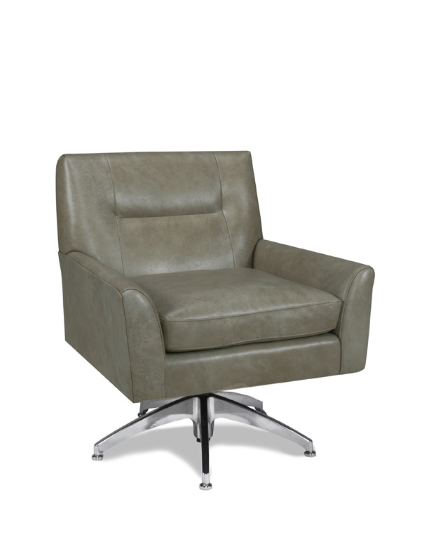Fina Leather Swivel Chair