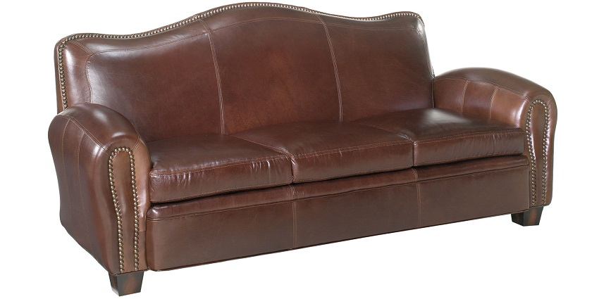 Camelback Leather Sofa