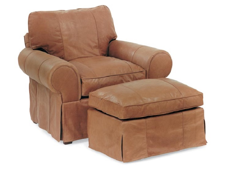 Slip Cover Leather Chair