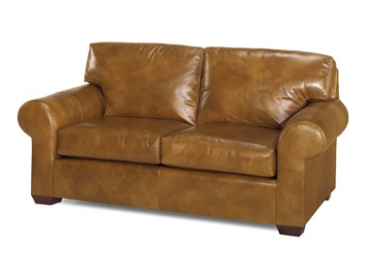 Castle Rock Leather Loveseat