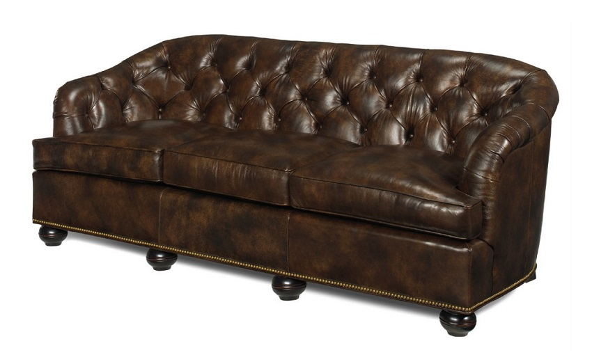 Coleman Leather Loveseat