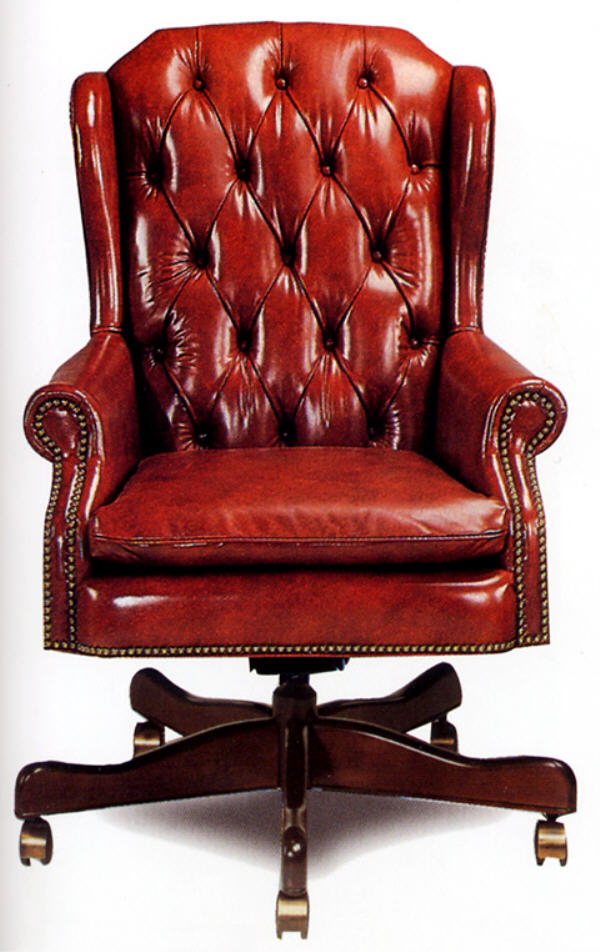 Leather Office Furniture Duncan Leather Swivel Tilt Chair