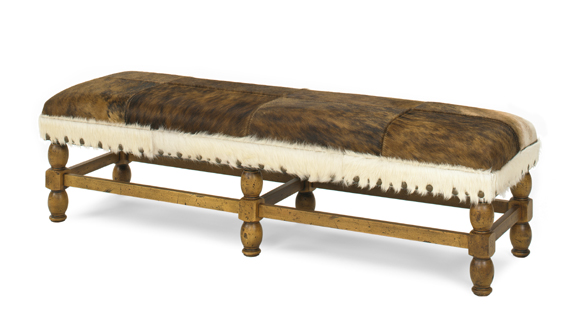 Apache Leather Bench