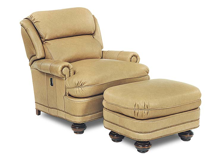 Gill Leather Tilt Back Chair & Ottoman