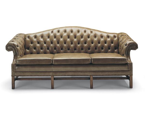 Wondrous Sophia Leather Sofa Loose Cushion Tufted Back Creativecarmelina Interior Chair Design Creativecarmelinacom