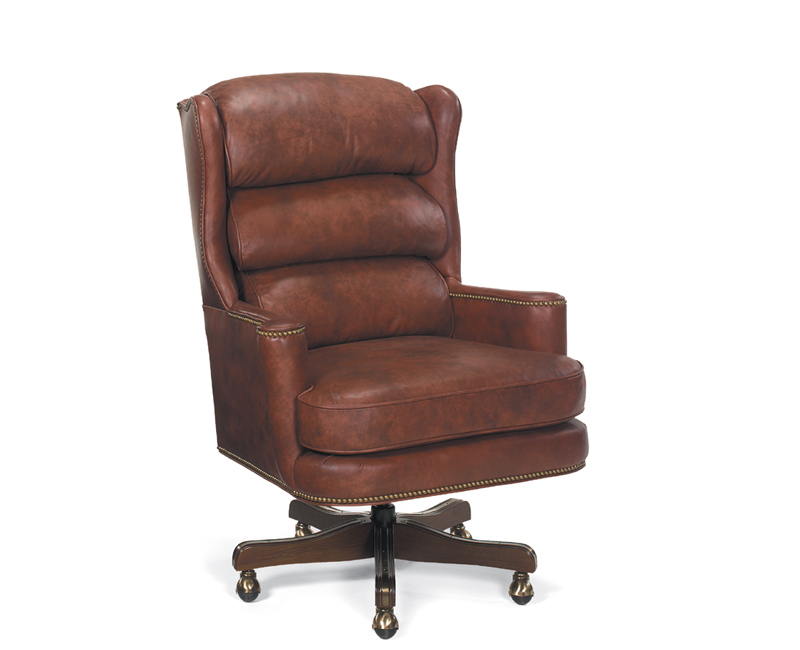Carroll Leather Swivel Tilt Chair