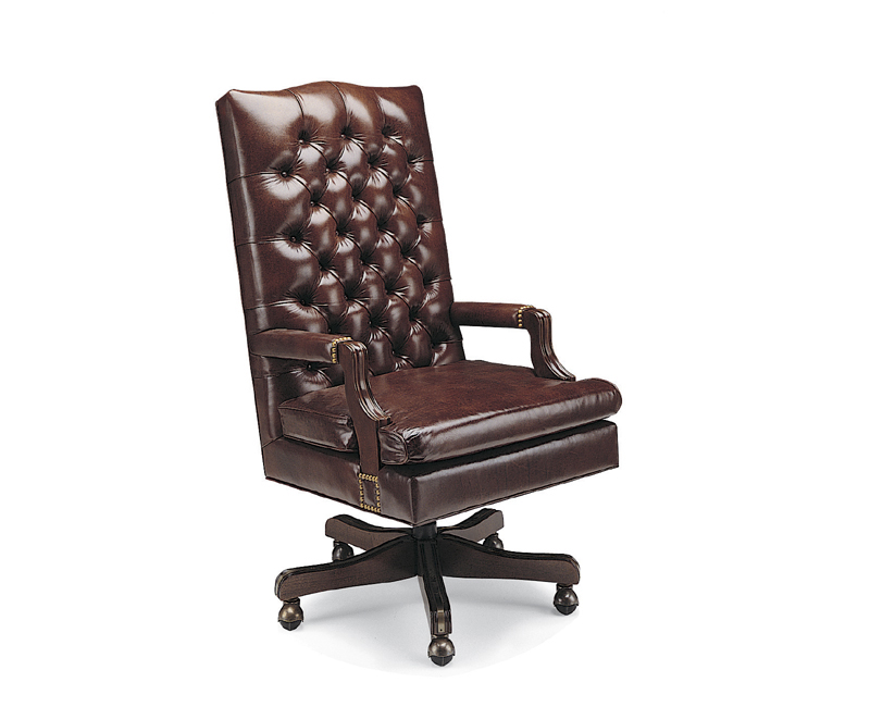 Chambers Leather Swivel Tilt Chair 5 Prong Base
