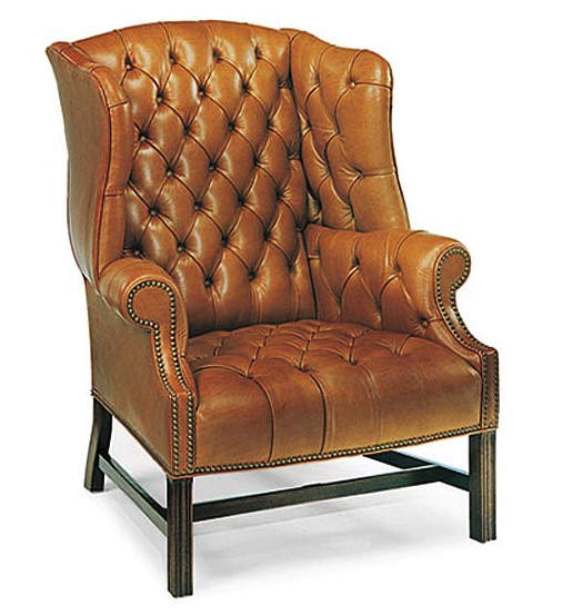 Leather Wing Back Chair