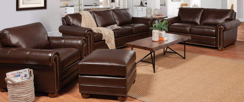 Athens Leather Sofa