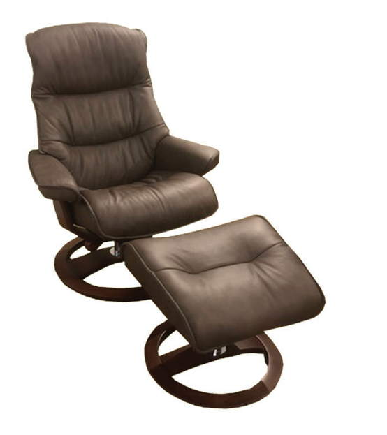 Big Sur Leather Chair and Ottoman