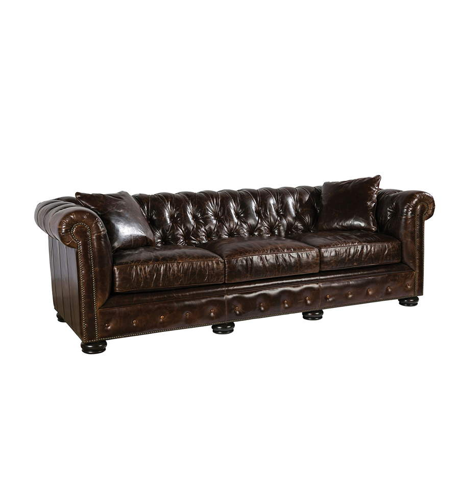 Prime Renaissance Leather Sofa In Brompton Brown Ncnpc Chair Design For Home Ncnpcorg