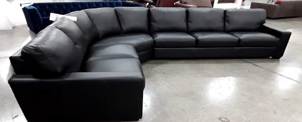 Clearance Leather Sectional