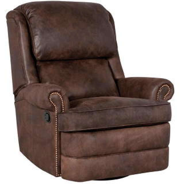 Chrisley Leather Swivel Glider Recliner