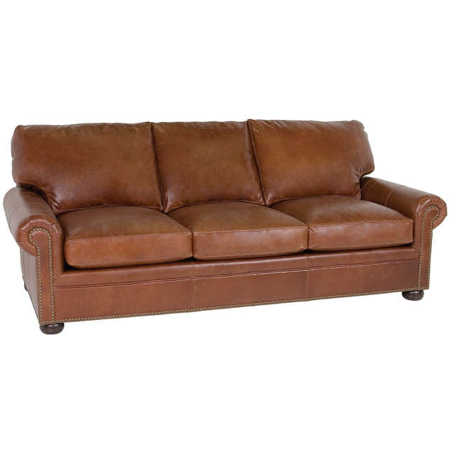 Ginger Leather Sofa