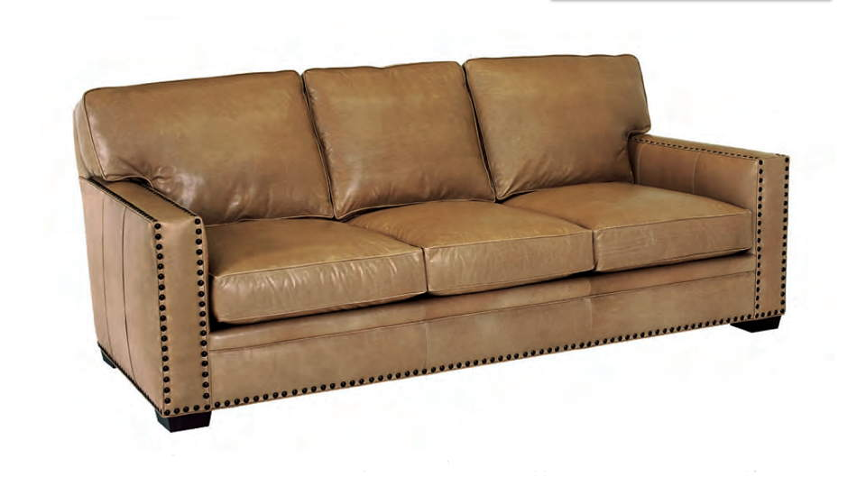 Zelmo Leather Sofa