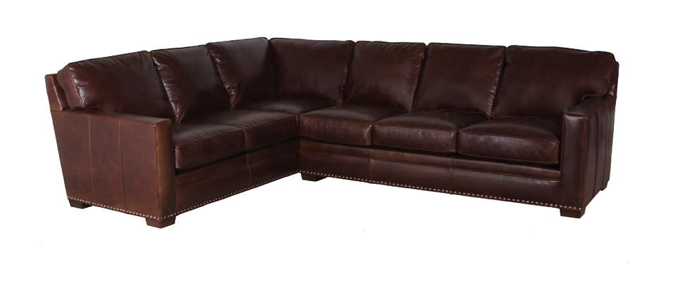 Zelmo Leather Sectional