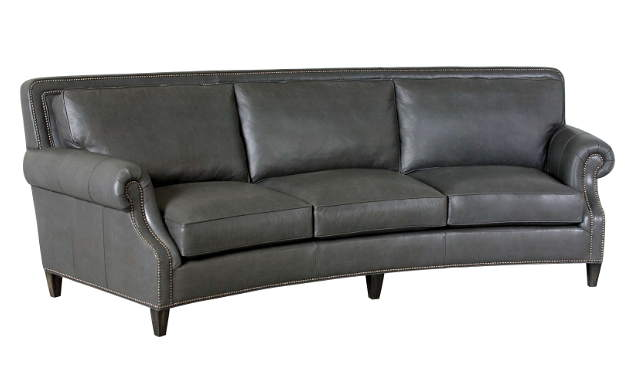 Clemmons Leather Conversation Sofa
