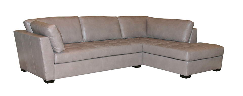 Classic Leather Sofa With Chaise