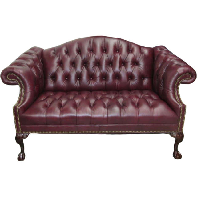 Ball In Claw Leather Loveseat