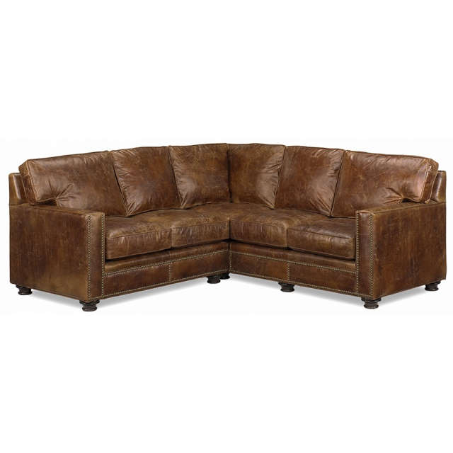 Brown Leather Sectional - Made in the United States