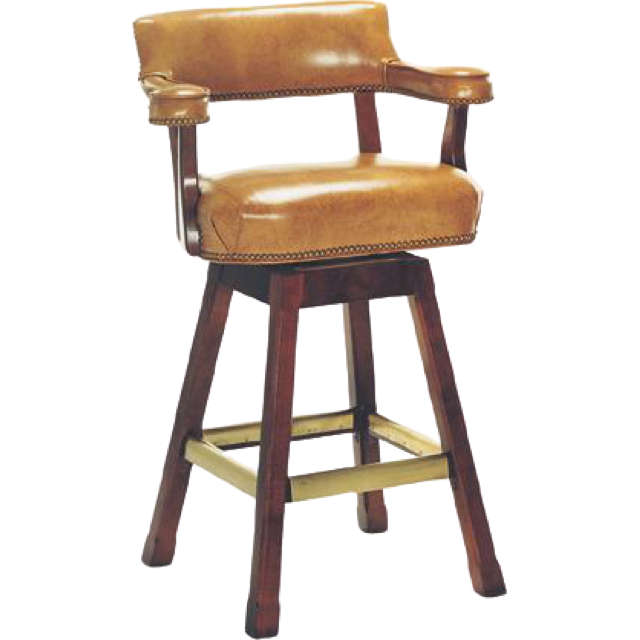 Cheers Leather Bar Stool