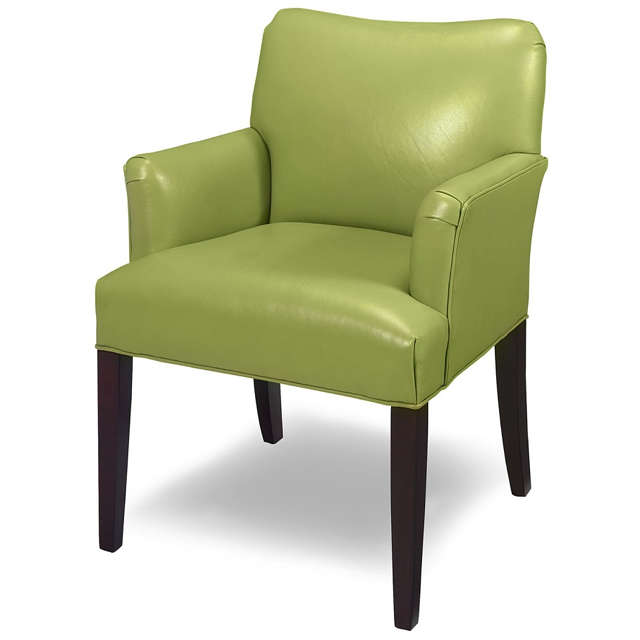 Green Leather Accent Chair