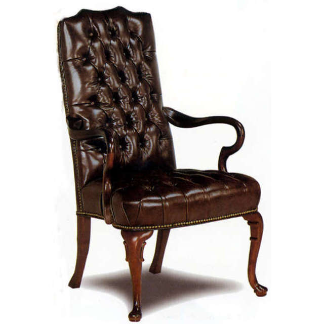 Leather Gooseneck Chair