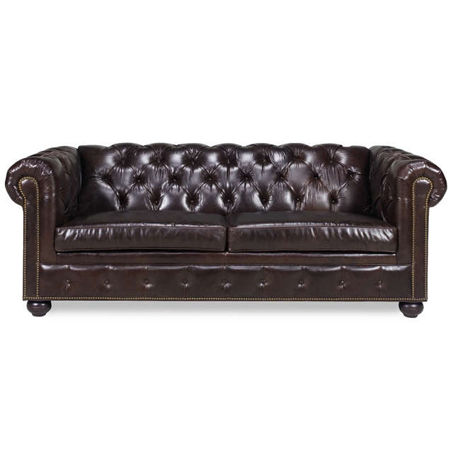 Baton Rouge Leather Sleeper Sofa