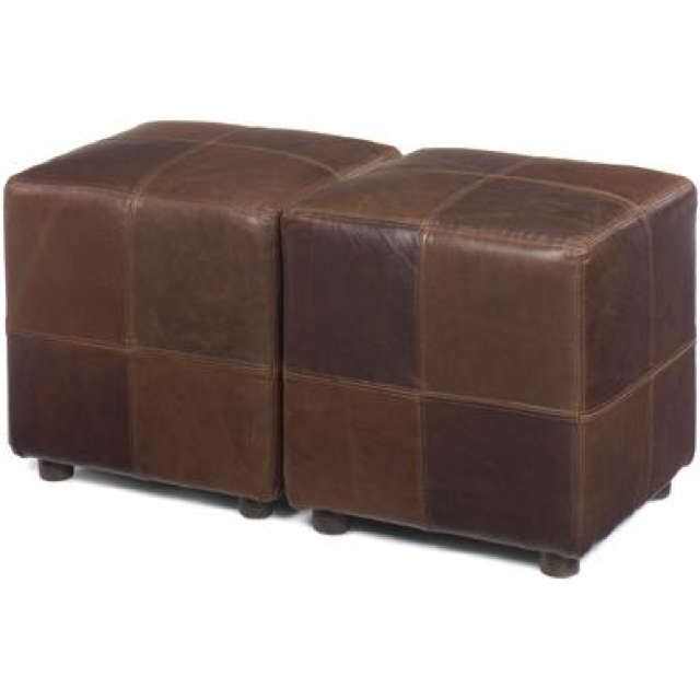 Cube Leather Stool