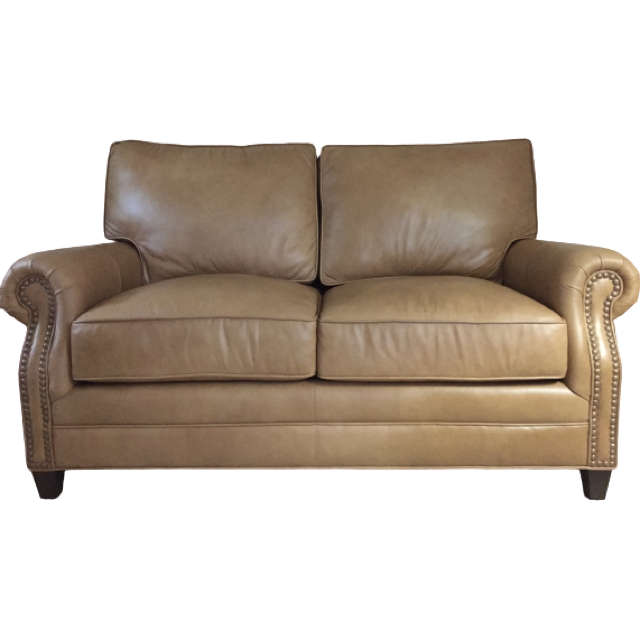 Conway Leather Loveseat