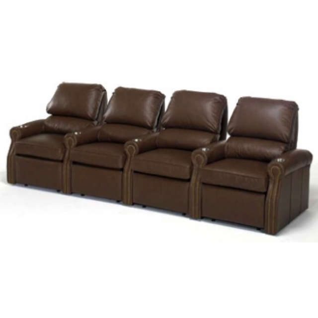 Livingston Leather Home Theater Seating