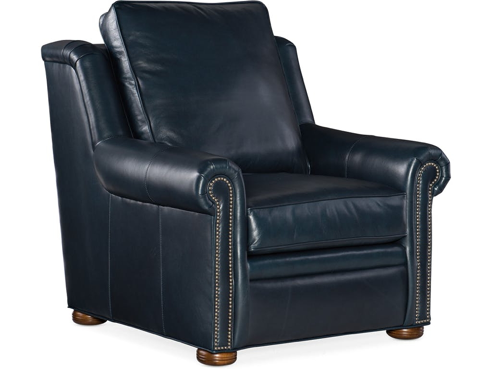 Reece Leather Chair And Ottoman