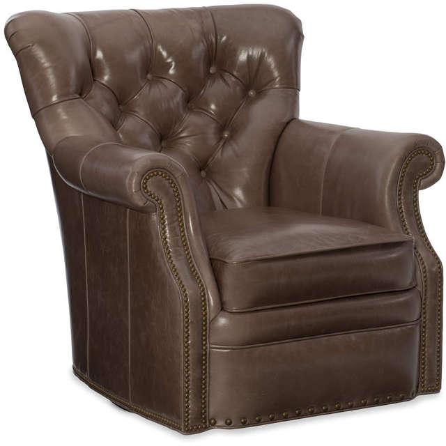 Kirby Leather Swivel Chair