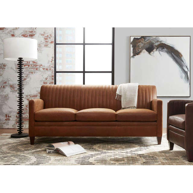 Barnabus Leather Sofa