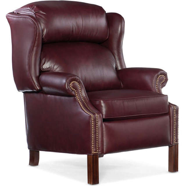 Leather Recliner With Chippendale Legs