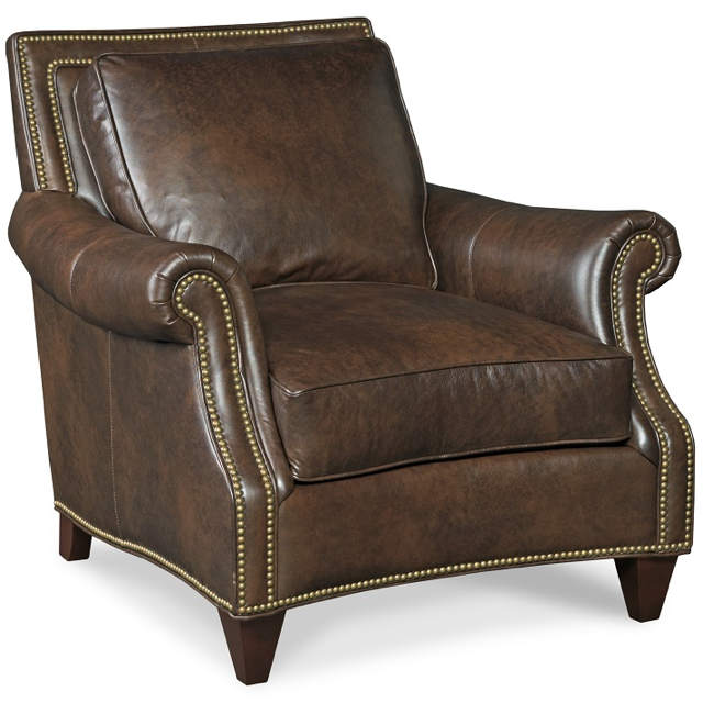 Bates Leather Chair and ottoman