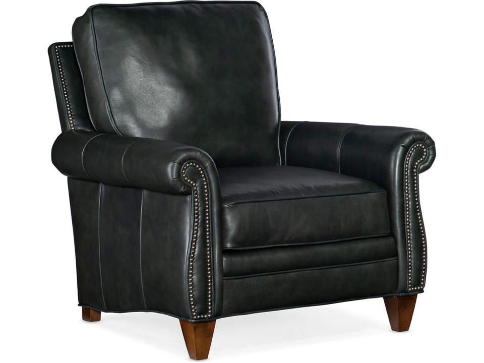 Nala Leather Chair and Ottoman
