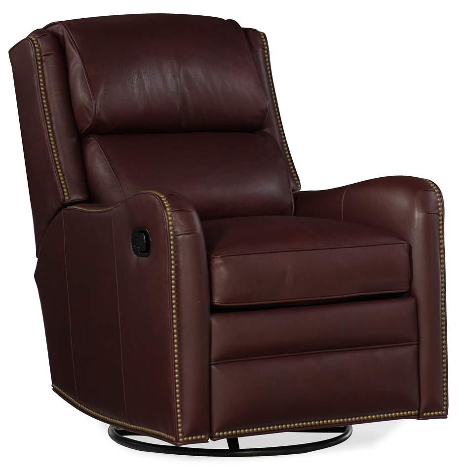 Henley Leather Swivel Glider Recliner